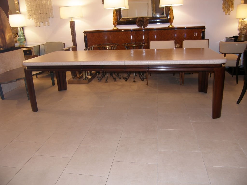 Paul Frankl Cork Top Mahogany Dining Table Dining Room