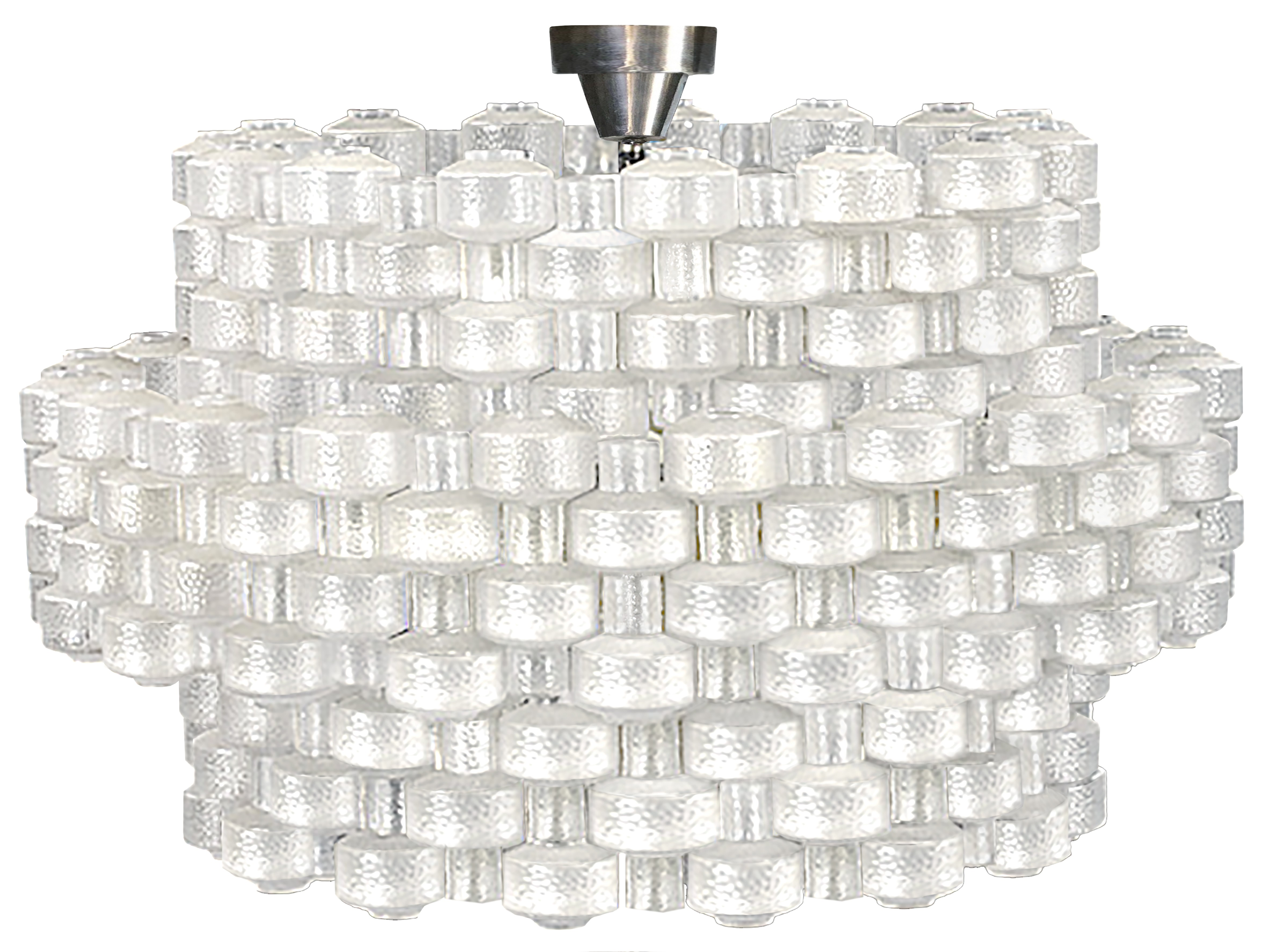 Carl Fagerlund for Orrefors Glass Chandelier (Two Chandeliers Available)