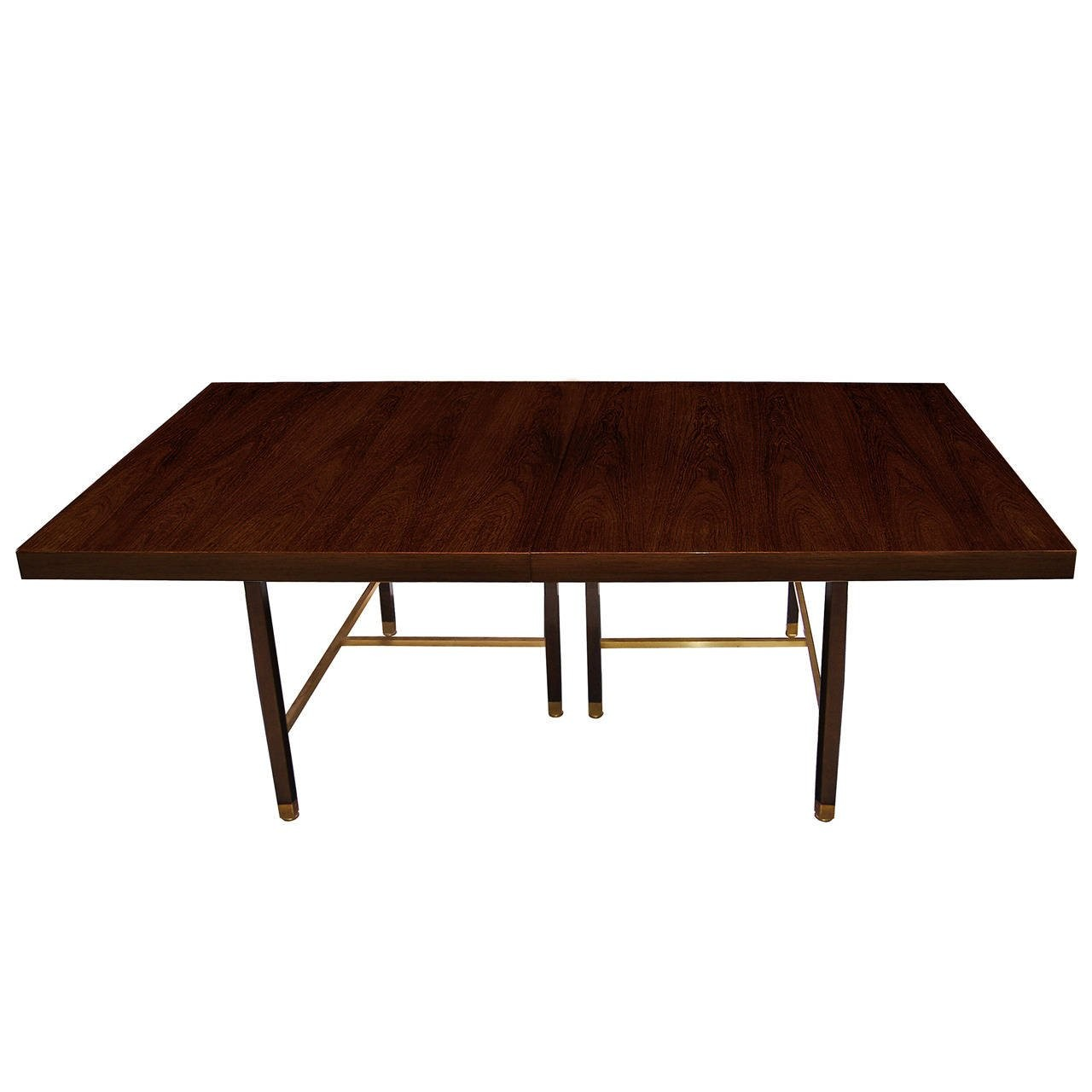 Rosewood And Brass Dining Table By Harvey Probber Inventory