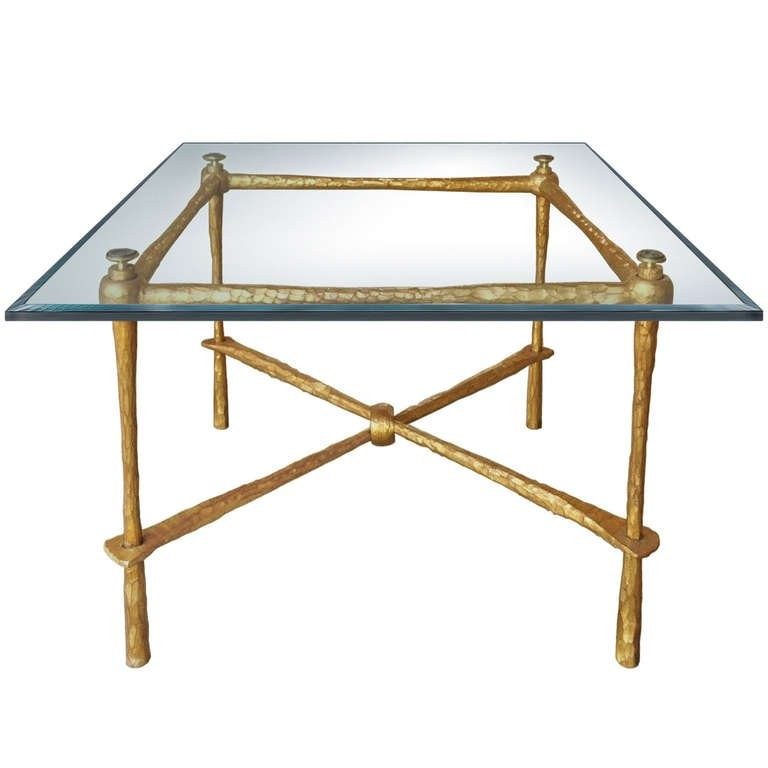 French Gilt Bronze Coffee Table
