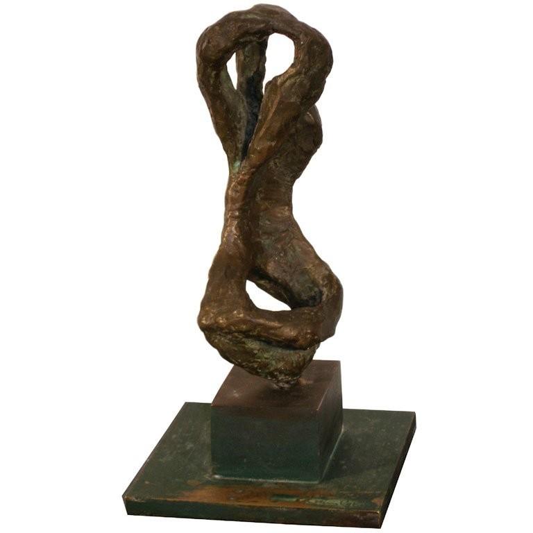 Signed Chaim Gross Bronze Sculpture