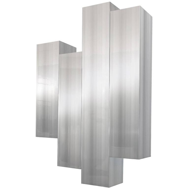 Polished Aluminum Wall Sculpture by Cy Mann