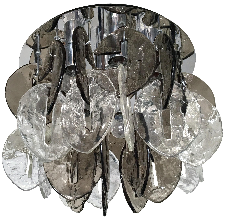 J.T. Kalmar Textured Glass Ceiling Fixture