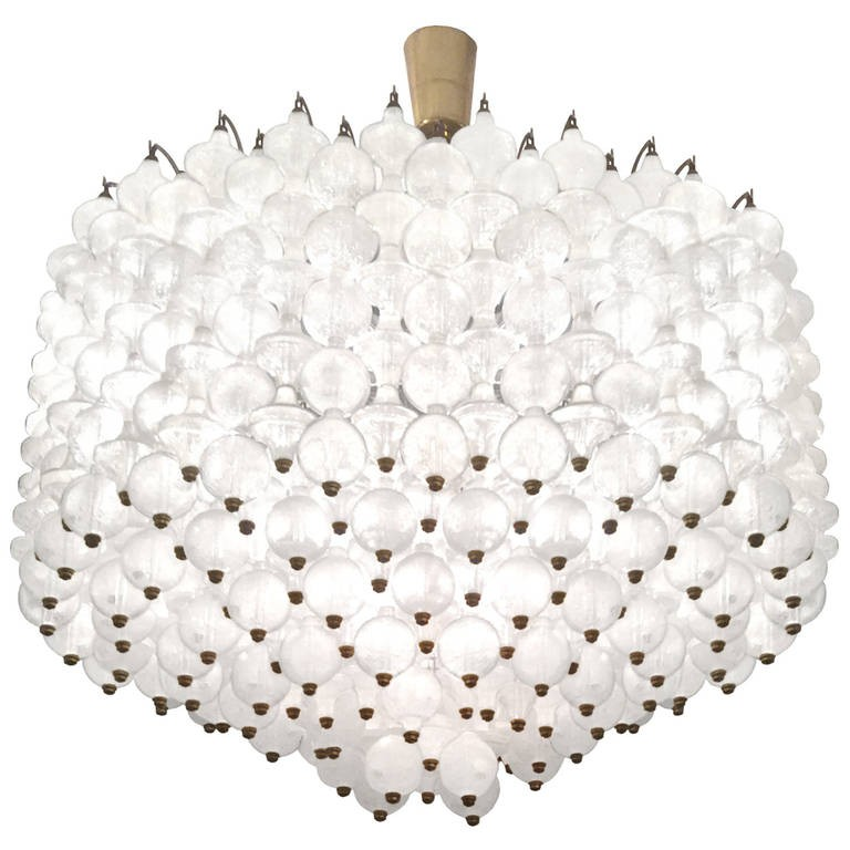 Italian Interlocking Glass Chandelier
