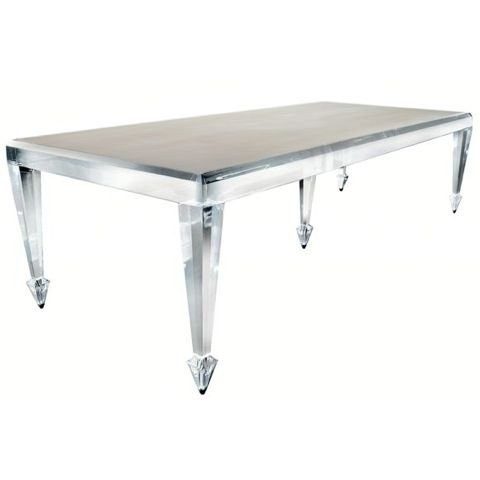 Pentandria Lucite & Stone Dining Table by Craig Van Den Brulle