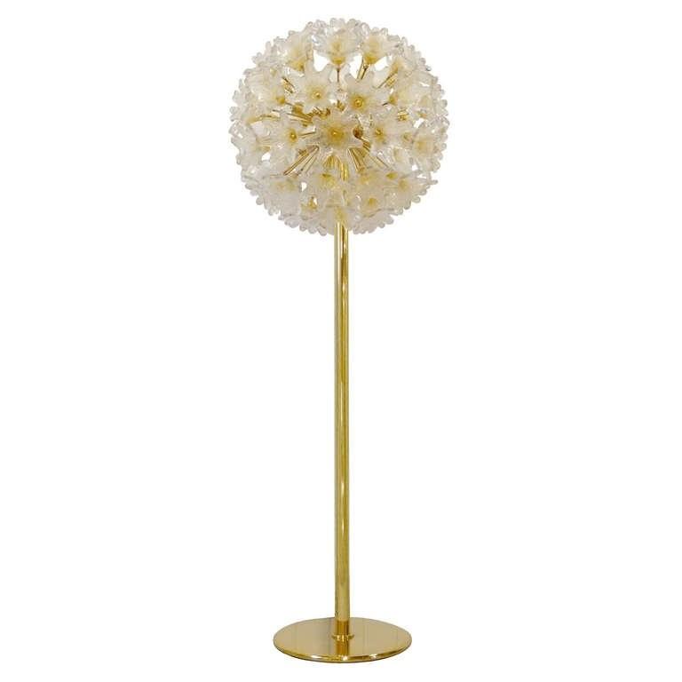 Murano Glass Flower Ball Floor Lamp