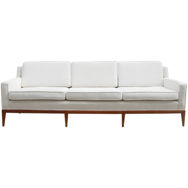 Mid-Century Walnut Sofa