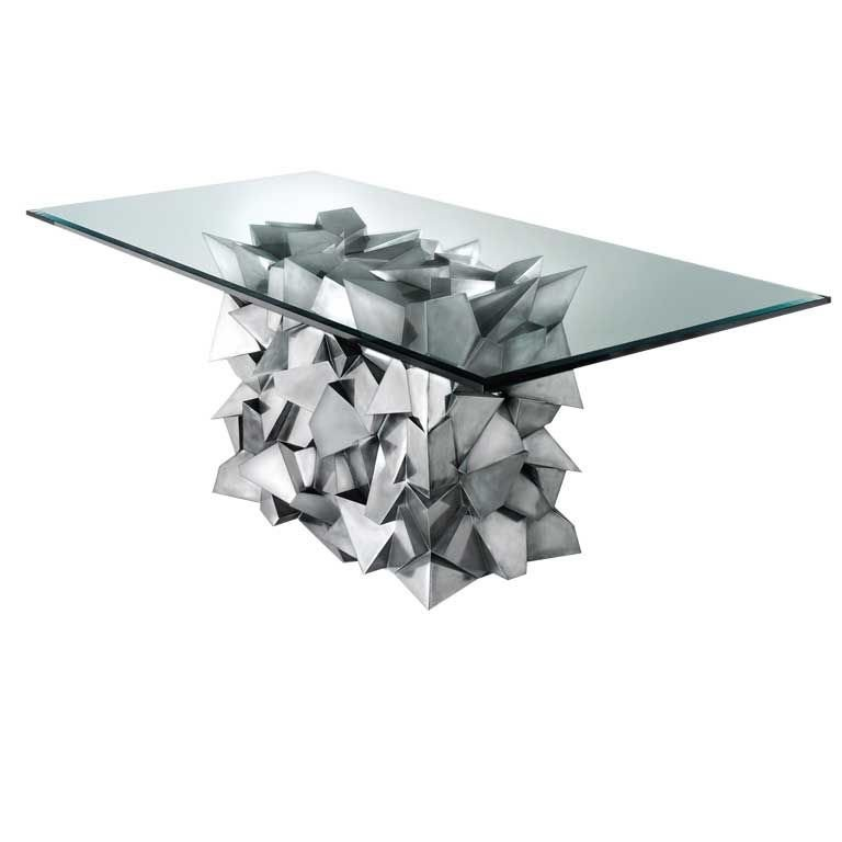 Delaunay Steel Dining Table by Craig Van Den Brulle