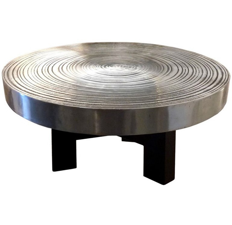 Signed Ado Chale Steel Coffee Table / SOLD