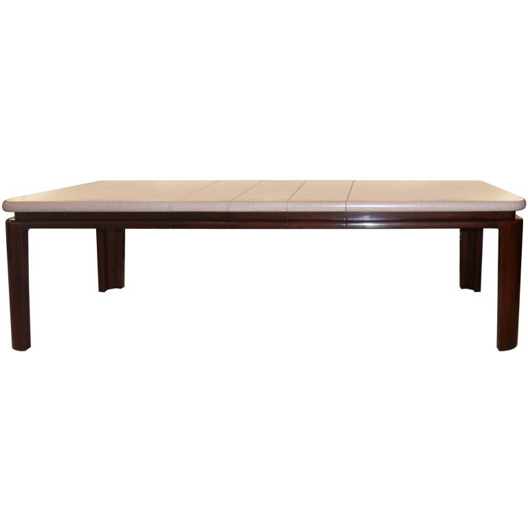 Paul Frankl Cork Top Mahogany Dining Table