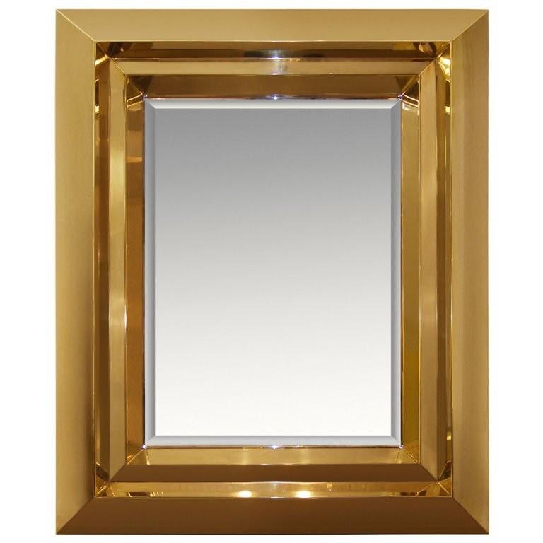 Custom Brass Beveled Mirror