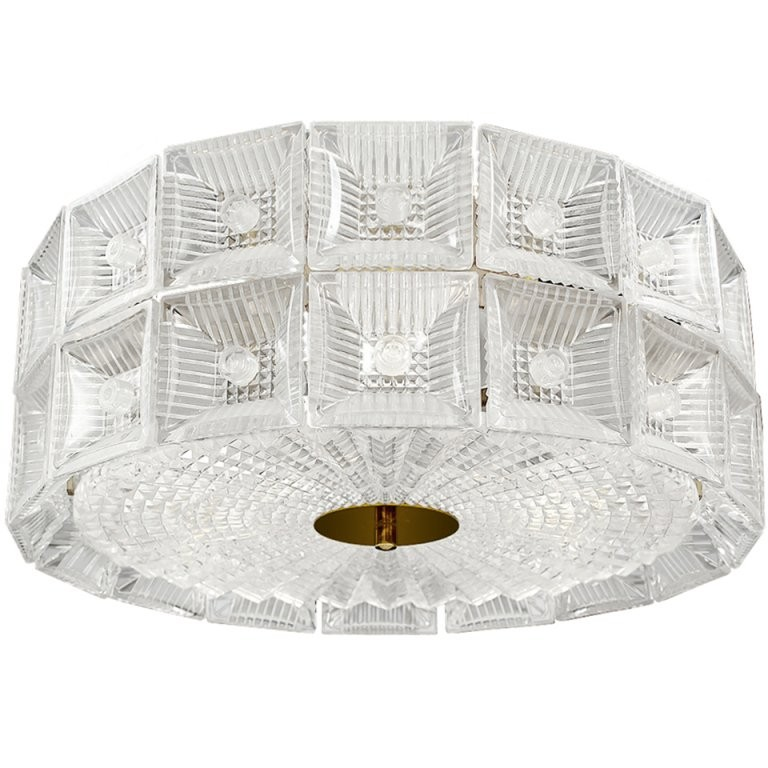 Carl Fagerlund for Orrefors 2 Tiered Glass Chandelier