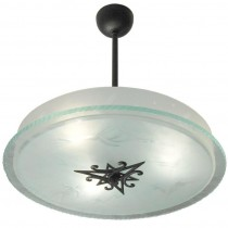 Italian Etched Glass Fixture