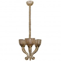 Early Barovier Smoky Topaz Three-Arm Chandelier