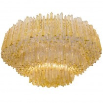 Large Textured Glass Fixture by J. T. Kalmar