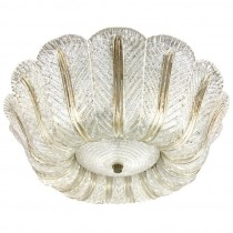 Venini Textured Glass Ceiling Fixture