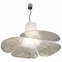 Carlo Nason for Mazzega Fixture in White and Clear Glass
