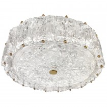 Venini Textured Glass Fixture