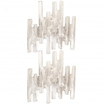 Pair of J. T. Kalmar Champagne Glass Sconces, Two Pairs Available