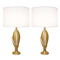 Pair of Sculptural French Cast Bronze Table Lamps