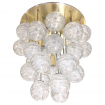 Kalmar Brass and Glass Ceiling Fixture
