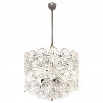 German Nickel and Glass Chandelier