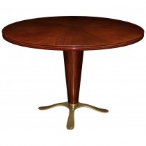 Paolo Buffa Mahogany and Bronze Pedestal Table