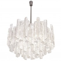 Tiered Glass Chandelier by J.T. Kalmar