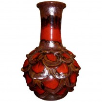 West German Ceramic Flower Petal Vase by Walter Gerhards