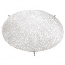 Kalmar Round Textured Glass Ceiling Fixture / 2 Available