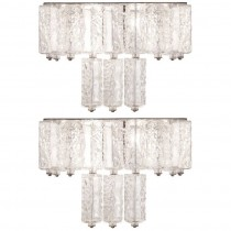 Pair of Kalmar Glass Sconces