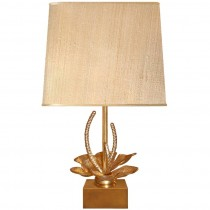 French Gilt Bronze Lily Pad Lamp