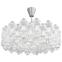 Carl Fagerlund for Orrefors Glass Chandelier