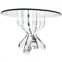 Clarion Lucite and Glass Dining Table