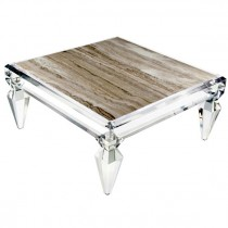 Avenire Lucite Coffee Table by Craig Van Den Brulle