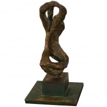 Signed Chaim Gross Bronze Sculpture