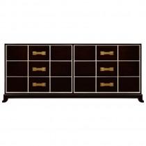 Ebonized Mahogany Six Drawer Dresser by Tommi Parzinger