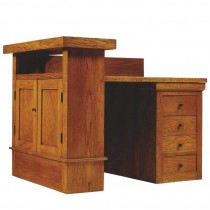 Oak Desk by Frank Lloyd Wright for the A.W. Gridley House, Illinois, 1906