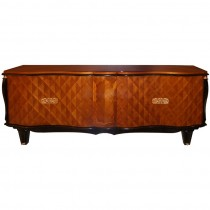 French Walnut and Rosewood Sideboard with Bronze Details