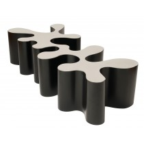 Biomorphic Coffee Table with Black Sides by Bert Furnari for Craig Van Den Brulle