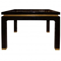 Goatskin Table with Brass Details