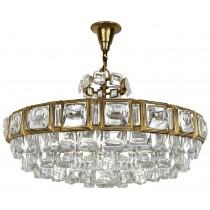 Palwa Brass and Glass Chandelier