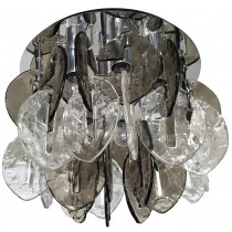 J.T. Kalmar Textured Glass Ceiling Fixture
