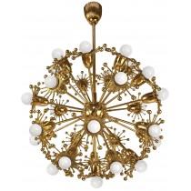 Gilt Brass Sputnik Chandelier by Palwa