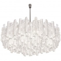 J. T. Kalmar Thick Textured Clear Glass Chandelier