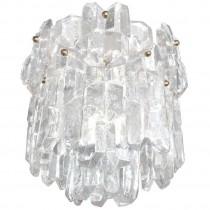 J. T. Kalmar Thick Textured Clear Glass Chandelier