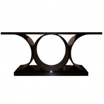 Karl Springer Ebonized Console Table