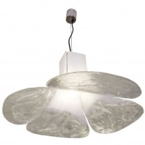 Carlo Nason for Mazzega Fixture in White & Clear Glass