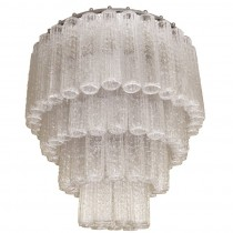 Venini Tubular Glass Chandelier