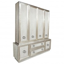 Large Mirror and Silver Leaf Buffet